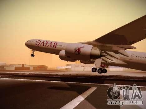 Airbus A340-600 Qatar Airways for GTA San Andreas upper view