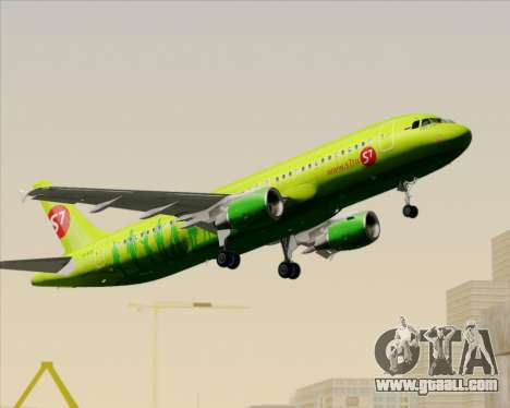 Airbus A320-214 S7-Siberia Airlines for GTA San Andreas bottom view
