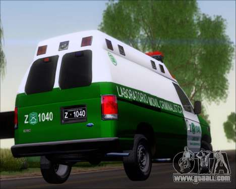 Ford E-150 Labocar for GTA San Andreas side view