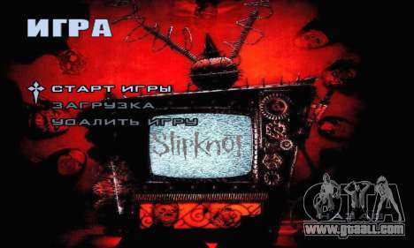 Metal Menu - Slipknot for GTA San Andreas second screenshot