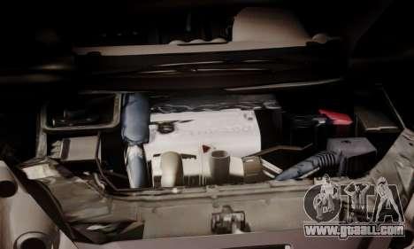 Peugeot RCZ for GTA San Andreas inner view