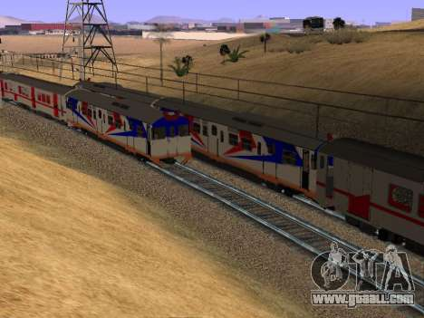 Indonesian diesel train MCW 302 for GTA San Andreas back view