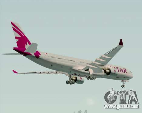 Airbus A330-300 Qatar Airways for GTA San Andreas bottom view