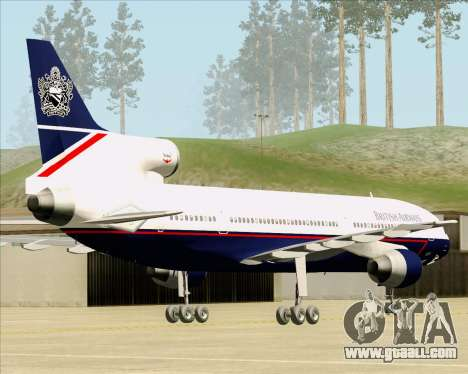 Lockheed L-1011 TriStar British Airways for GTA San Andreas back left view