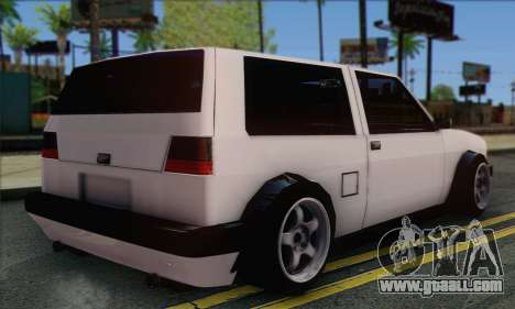Volkswagen Club Mk2 for GTA San Andreas left view