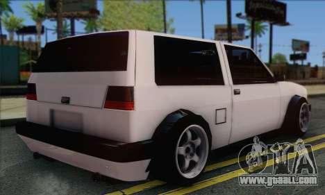 Volkswagen Club Mk2 for GTA San Andreas left view