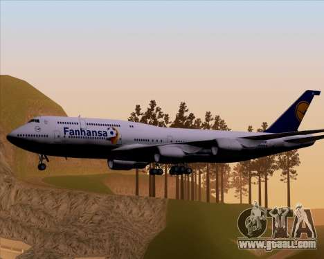 Boeing 747-830 Lufthansa - Fanhansa for GTA San Andreas right view