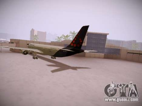 Airbus A330-300 Brussels Airlines for GTA San Andreas back left view