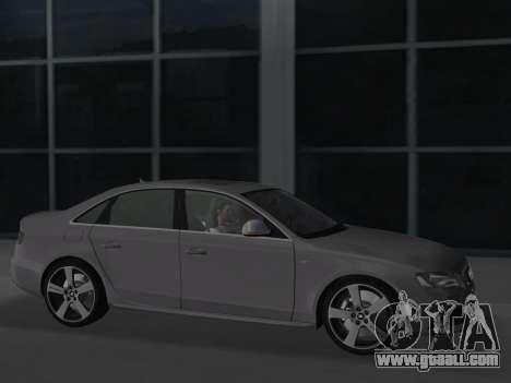 Audi S4 (B8) 2010 - Metallischen for GTA Vice City back view