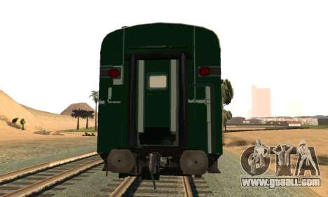 Pakistan Railways Train for GTA San Andreas right view