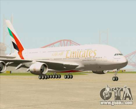 Airbus A380-841 Emirates for GTA San Andreas left view