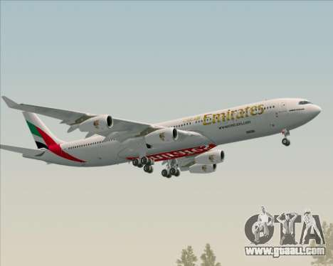 Airbus A340-313 Emirates for GTA San Andreas side view