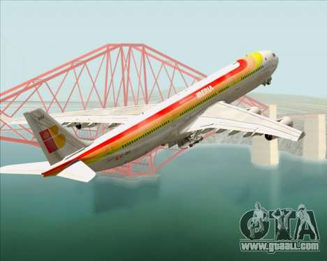 Airbus A340 -313 Iberia for GTA San Andreas wheels
