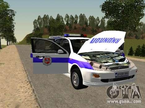 Ford Focus Police Nizhny Novgorod region for GTA San Andreas inner view
