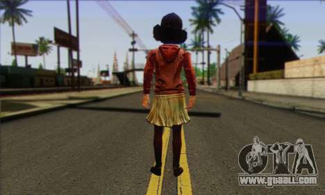Klementine from Walking Dead for GTA San Andreas second screenshot