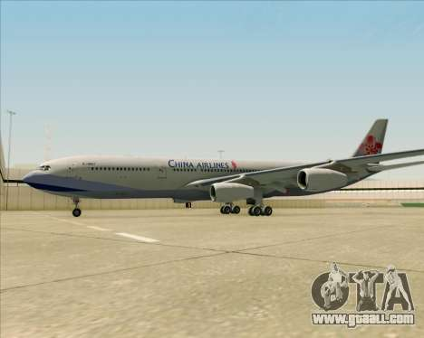 Airbus A340-313 China Airlines for GTA San Andreas bottom view