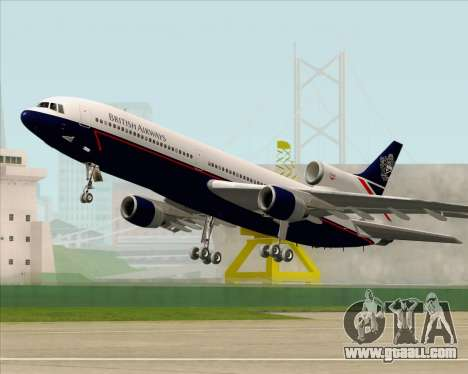 Lockheed L-1011 TriStar British Airways for GTA San Andreas bottom view