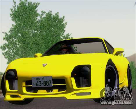 Mazda RX-7 FD3S A-Spec for GTA San Andreas back view