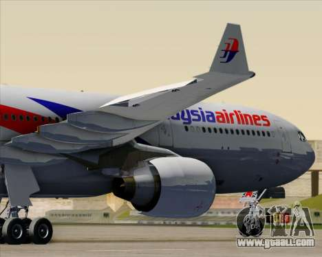 Airbus A330-323 Malaysia Airlines for GTA San Andreas interior