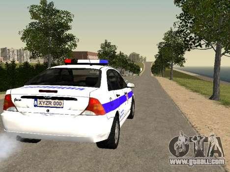 Ford Focus Police Nizhny Novgorod region for GTA San Andreas right view