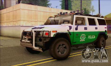 Hummer H2 Colombian Police for GTA San Andreas