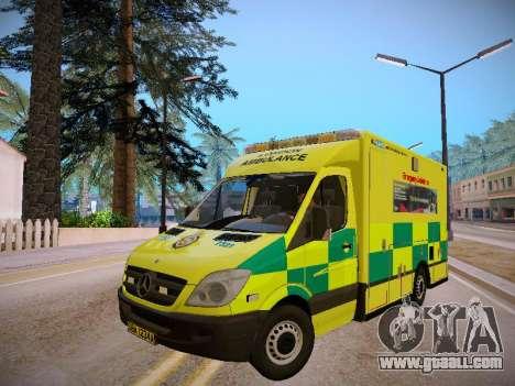 Mercedes-Benz Sprinter London Ambulance for GTA San Andreas