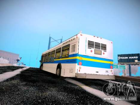 NewFlyer D40LF TransLink Vancouver BC for GTA San Andreas back left view