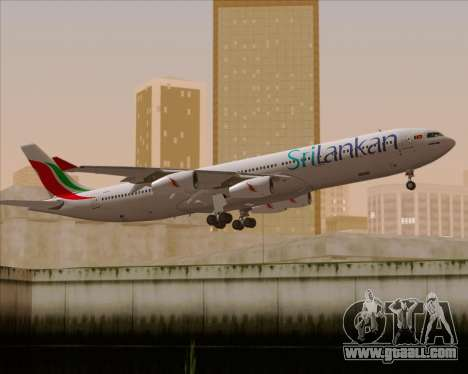 Airbus A340-313 SriLankan Airlines for GTA San Andreas engine