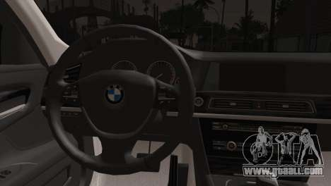 BMW 760 for GTA San Andreas back left view