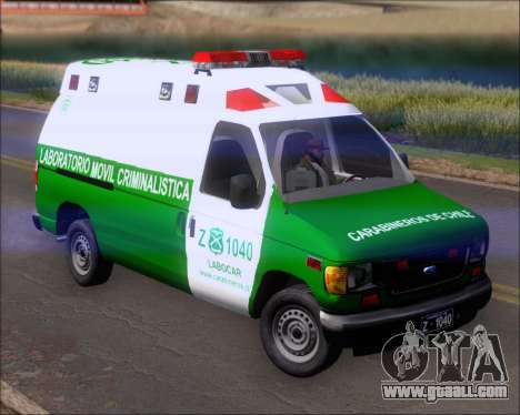 Ford E-150 Labocar for GTA San Andreas left view