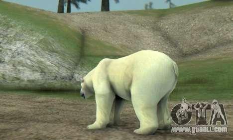 Polar Bear (Mammal) for GTA San Andreas forth screenshot