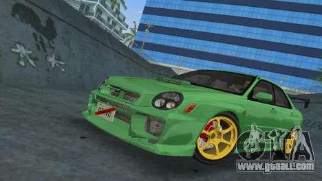 Subaru Impreza WRX 2002 Type 3 for GTA Vice City