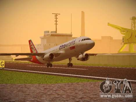 Airbus A320-214 TAM Oneworld for GTA San Andreas