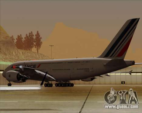 Airbus A380-861 Air France for GTA San Andreas inner view