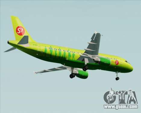 Airbus A320-214 S7-Siberia Airlines for GTA San Andreas inner view