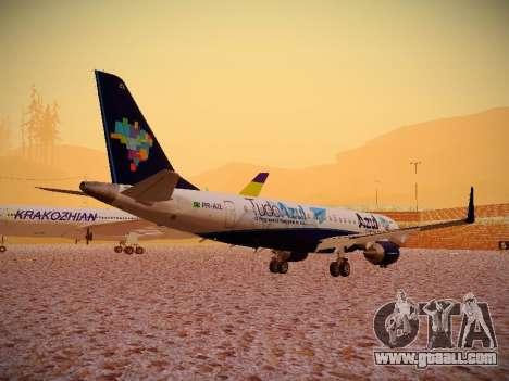 Embraer E190 Azul Tudo Azul for GTA San Andreas right view