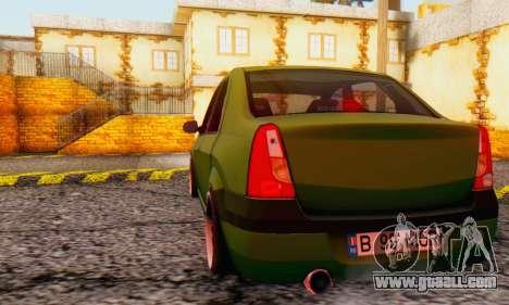 Dacia Logan MOR for GTA San Andreas right view