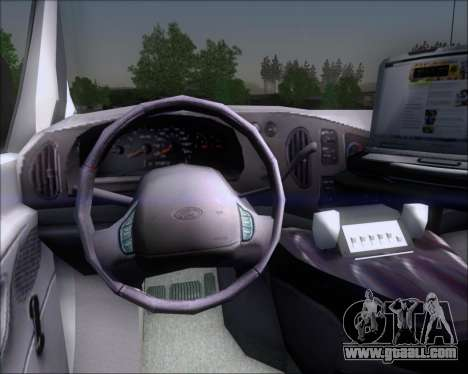 Ford E-150 Labocar for GTA San Andreas inner view