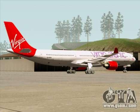 Airbus A330-300 Virgin Atlantic Airways for GTA San Andreas back view
