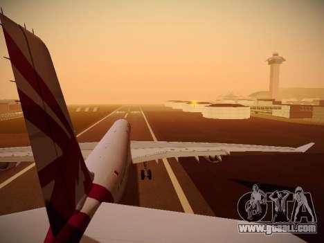 Airbus A340-600 Qatar Airways for GTA San Andreas engine