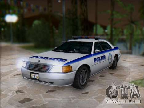Admiral Police for GTA San Andreas back left view