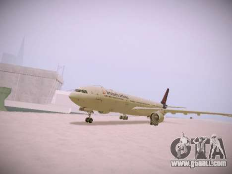 Airbus A330-300 Brussels Airlines for GTA San Andreas left view