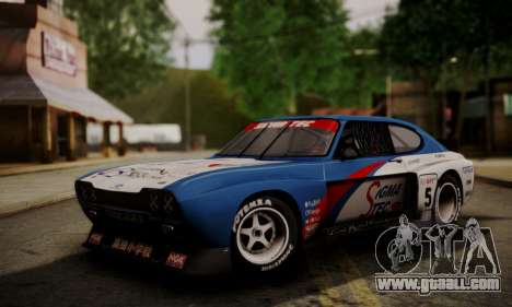 Ford Capri RS Cosworth 1974 Skinpack 4 for GTA San Andreas back left view