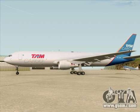 Boeing 767-300ER F TAM Cargo for GTA San Andreas engine