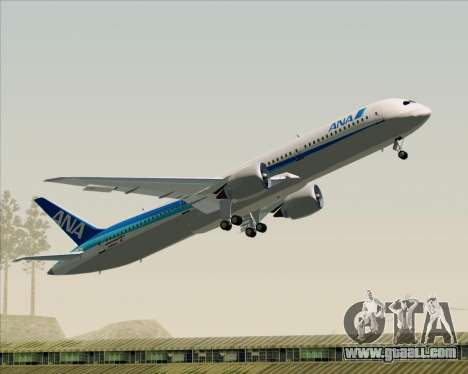 Boeing 787-9 All Nippon Airways for GTA San Andreas interior