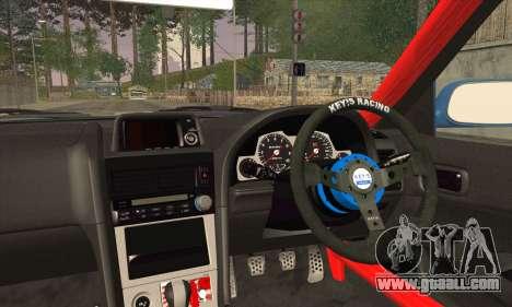 Nissan Skyline GTR34 for GTA San Andreas back left view