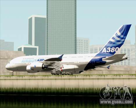 Airbus A380-861 for GTA San Andreas right view