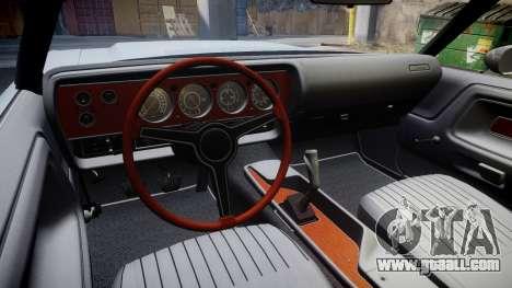 Dodge Challenger 1971 v2.2 PJ7 for GTA 4 back view
