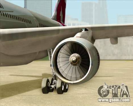 Airbus A330-300 Qatar Airways for GTA San Andreas inner view