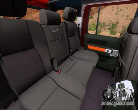 Land Rover Discovery 4 for GTA San Andreas interior